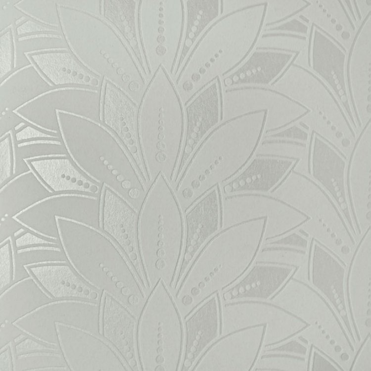 1907-139-02 Astoria Ivory Flock Swatch