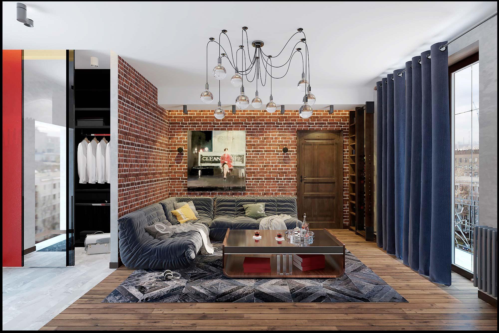 арт лофт дизайн квартиры фото днях городе открылись
